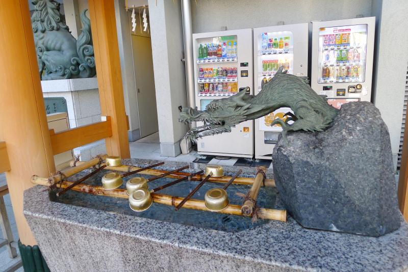 東京都中央区にある水天宮の手水舎