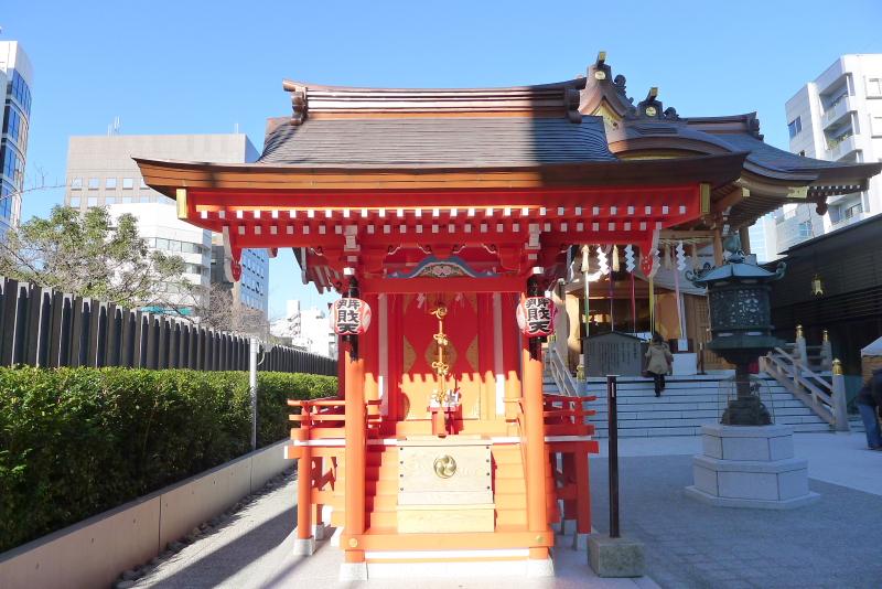 東京都中央区にある水天宮の境内社 宝生弁財天