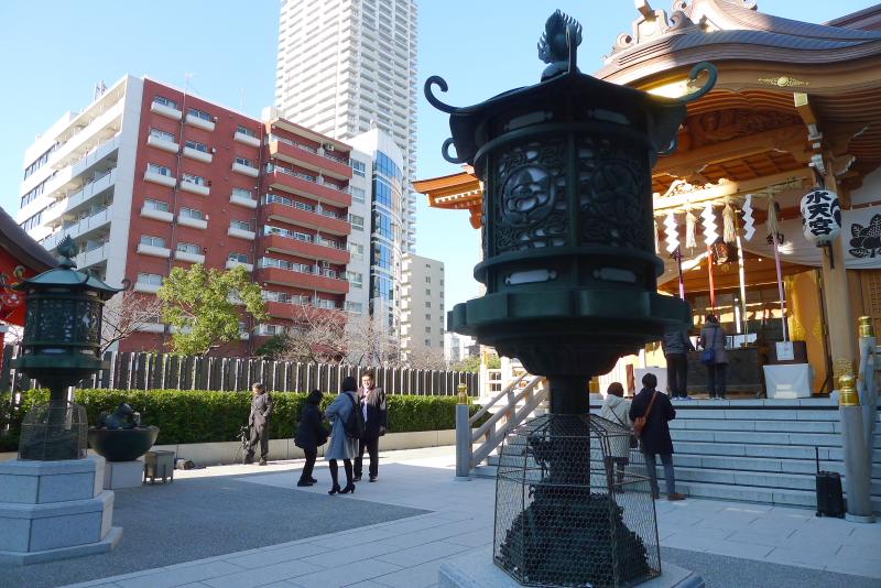 東京都中央区にある水天宮の社殿