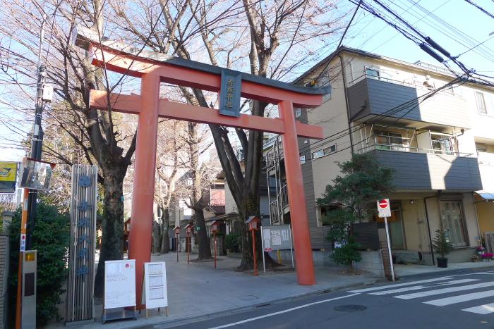 新宿区_赤城神社_鳥居