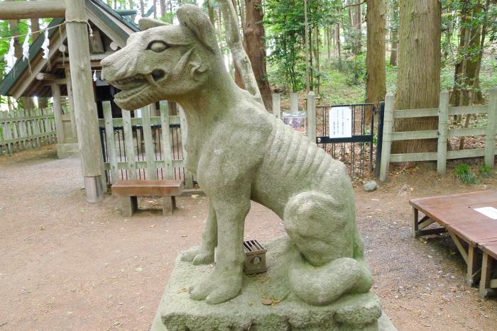 宝登山神社奥宮の狛犬