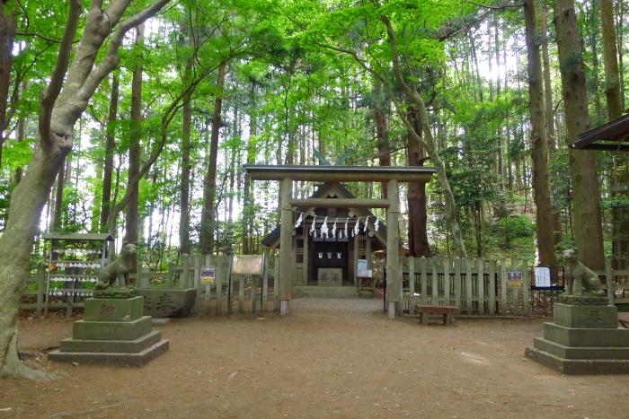 宝登山神社奥宮の境内