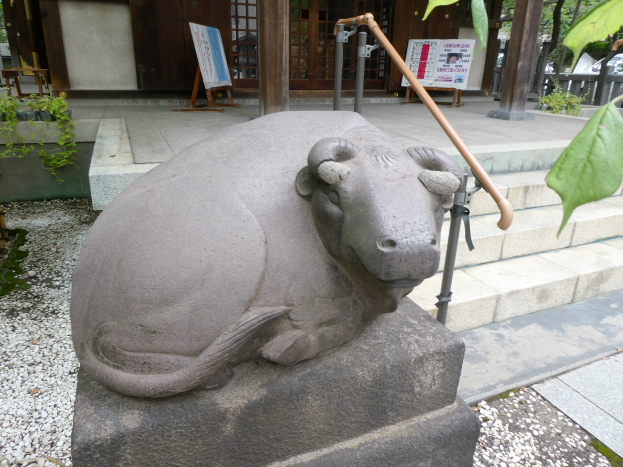 牛天神北野神社のなで牛