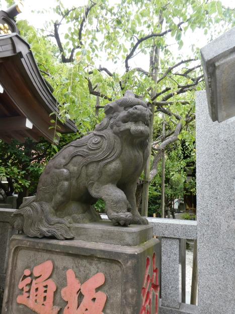 牛天神北野神社の狛犬