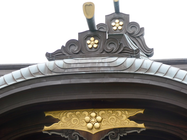 牛天神北野神社の社殿の屋根
