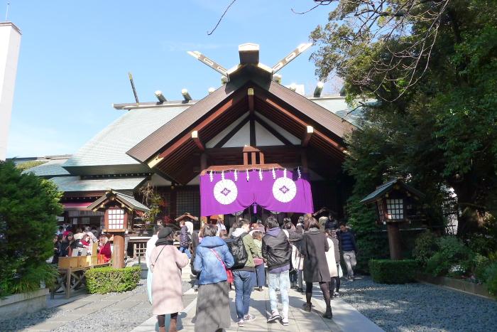 東京大神宮の混雑ぶり