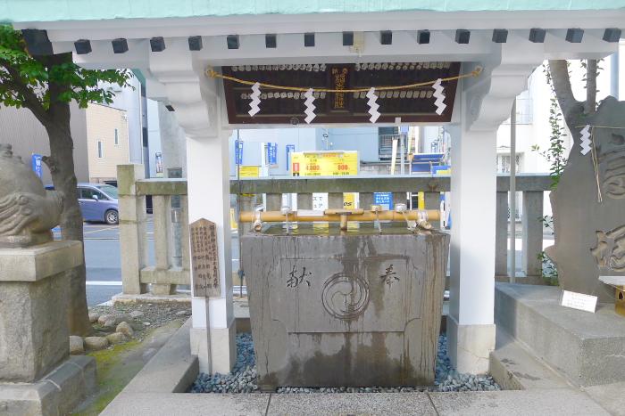 椙森神社の御手水舎