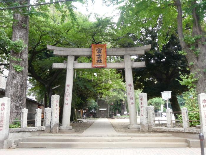 文京区本駒込_駒込富士神社 一の鳥居