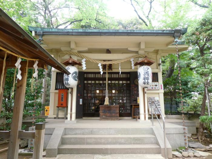 豊島区駒込妙技神社の社殿