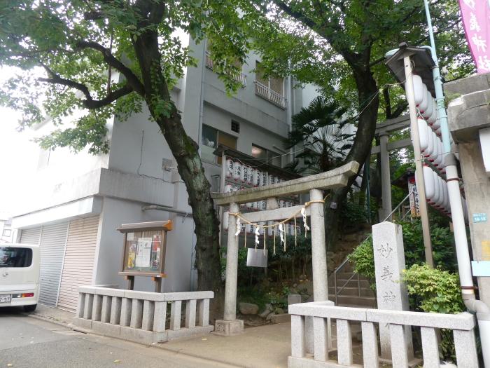 豊島区駒込妙技神社の一の鳥居
