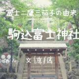 【駒込富士神社と御朱印】富士塚の上に建つ、一富士二鷹三茄子の由来になった神社|文京区