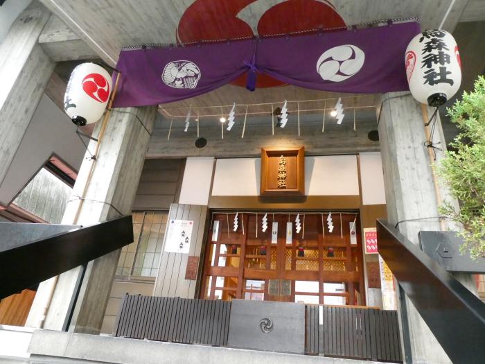 港区_新橋_烏森神社の巴紋