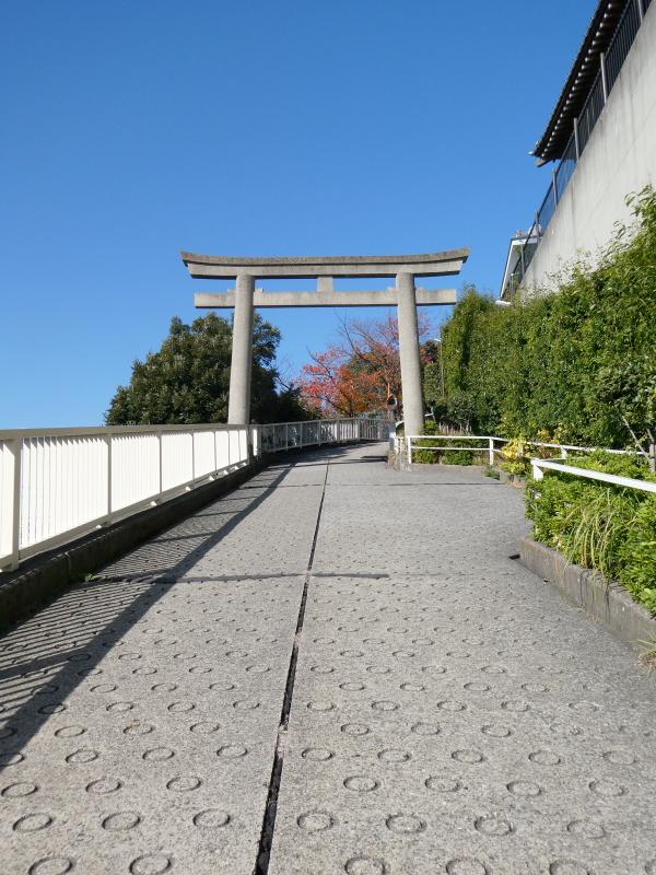北区赤羽八幡神社の裏参道と鳥居