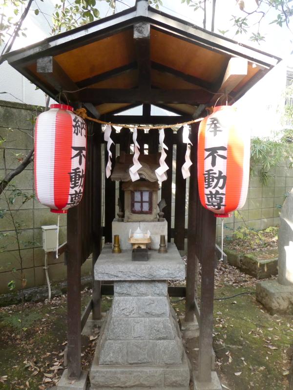 板橋区_熊野神社の小さな不動尊