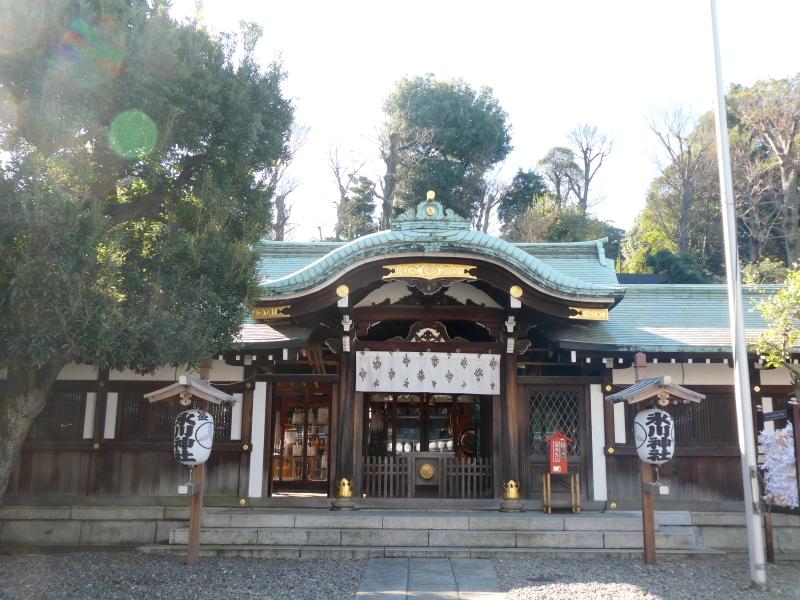 港区_白金氷川神社の社殿